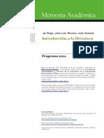 Introducción a La Literatura - La Plata 2011