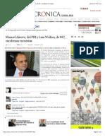 28-01-15 La Crónica de Hoy | Manuel Añorve, del PRI y Luis Walton, de MC, encabezan encuestas