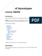 Big List of Apocalypse World Hacks