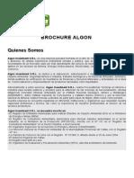 Brochure Algon Página Web Resumen