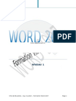 COURS Formation Word 2007 Final
