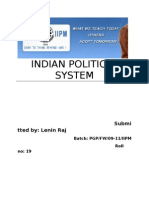 Indian Political System Prepared by Lenin Raj