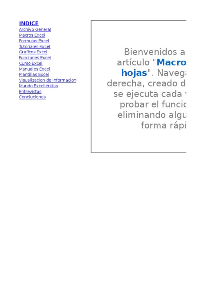Vistoso Plantilla De índice Molde - Ejemplo De Colección De ...