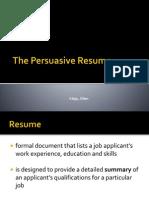 3 the Persuasive Resume