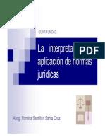 Interpretación Jurídica y Aplicación Normativa