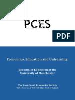 Post Crash Economics Economics Education and Unlearning