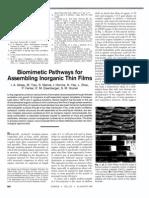 Biomemetic Pathway Inorganic FIlm