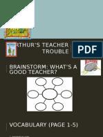 Arthur's Teacher Trouble Vocabulary