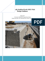 Mechanically Stabilized Earth (MSE) Walls Design Guidance