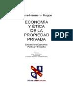 HansHoppe - Economía y Etica de La Propiedad Privada