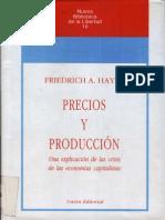 Hayek - Precios y Producción