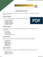 Tutorial de Java - Tipos de Eventos