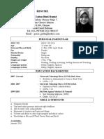 adik resume
