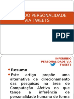 Inferindo Personalidade via Tweets
