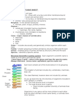 classification cheat sheet