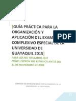 Guia Practica Para La Organizacion y Aplicacion Del Examen Complexivo