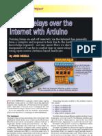 Arduino Internet Control Using the Arduino Ethernet Shield