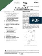 Xtr101 IC Datasheet