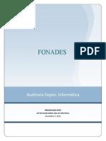 Auditoria de Sistemas Fonades 2012