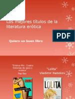 Los Mejores Títulos de La Literatura Erótica