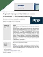 2008 Programas de Higiene Postural Desarrollados Con Escolares