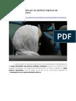 Crece escándalo por políticos fugitivos en Colombia