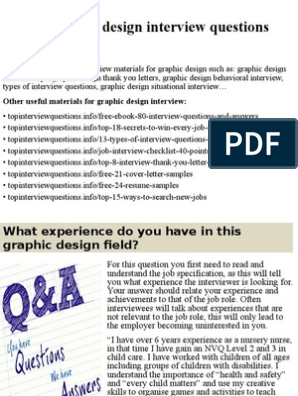 Top 10 graphic design interview questions and answers pptx