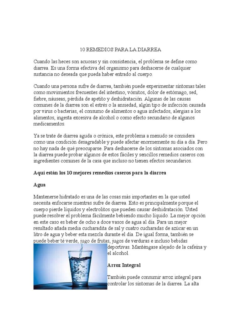 Remedios para las nauseas y diarrea
