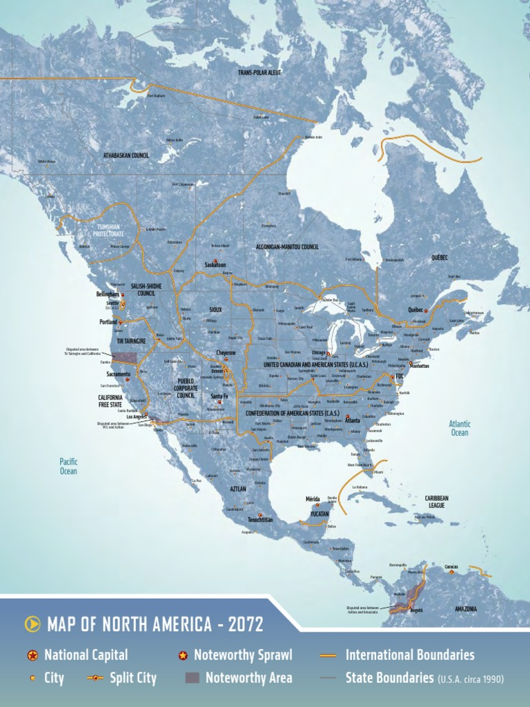 Shadowrun Us Map North America The United States Free 30 Day