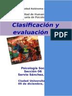 Clasificación y Evaluación en Psicopatología