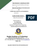 RIT CSE Project/ Seminar Certificate
