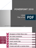 Microsoft PowerPoint 2010-Lesson 7 Plan Presentation