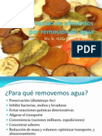 Deshidratacion y Remocion de Agua en los alimentos
