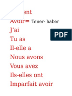 Verbe en Francais