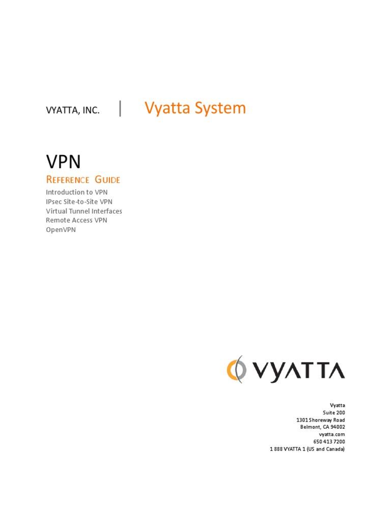 Vyatta-VPN_6 5R1_v01 | Internet Protocols | Networking Standards