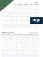 Calendar2015 Page Per Month