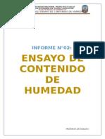 Informe 2 - Contenido de Humedad