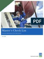 Masters Checklist