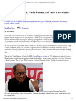 Print _Digvijaya's Secularism, Hindu Dilemma, And India's Moral Crisis