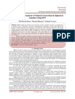 Computational Analysis of Natural Convection in Spherical Annulus Using FEV