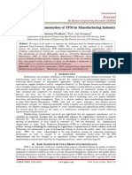 A Review on Implementation of TPM in Manufacturing Industry