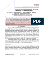 A CPW-Fed Wideband And Multiband Rectangular Microstrip Patch Antenna For Wireless Applications