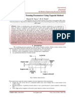 Optimization of Turning Parameters Using Taguchi Method