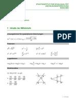Merkhilfe Fuer Das Fach Mathematik Standard