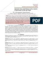Application of Intuitionistic Fuzzy Soft Matrices in the Analysis of the Expectations of Old Age People