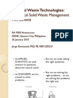 Emerging Technologies on Health Care Waste Management
