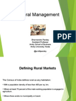 Rural Marketing Management by Prof Dharmendra Pandey