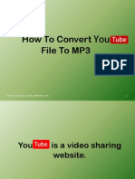 How to Convert Youtube File to MP3