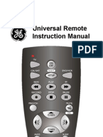 Universal Remote Instruction Manual