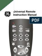 Universal Remote Instruction Manual
